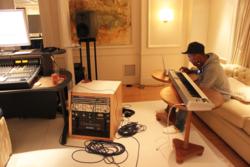 Pharrell rehearsing